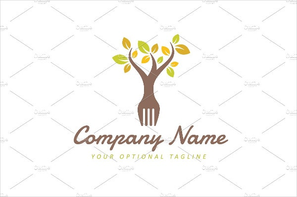 organic food business card logo