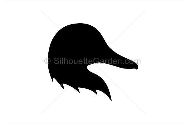 duck head silhouette