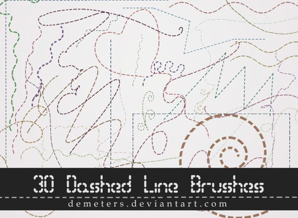 30 Dashed Line Brushes