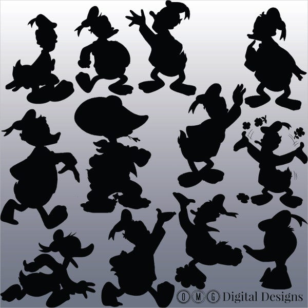 Donald Duck Silhouette