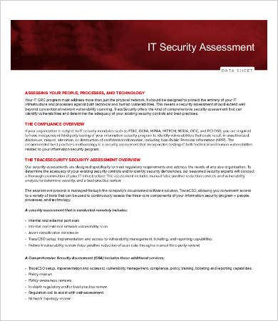 IT Security Assessment Template