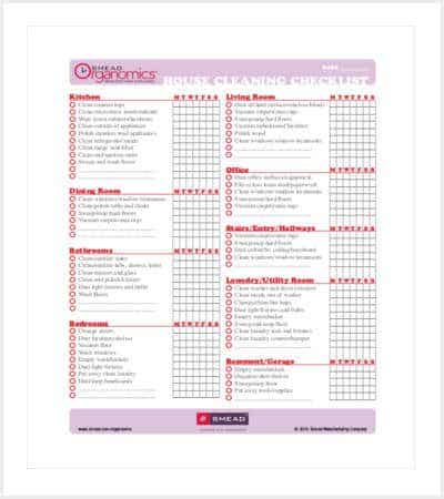 printable house cleaning checklist free pdf format min