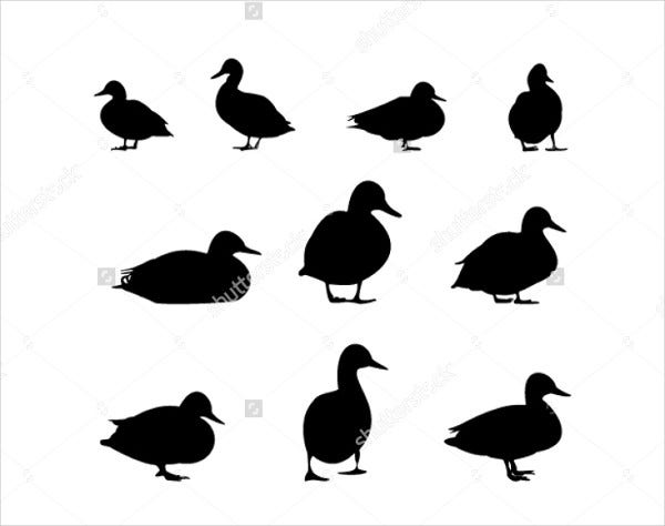 farm duck silhouette
