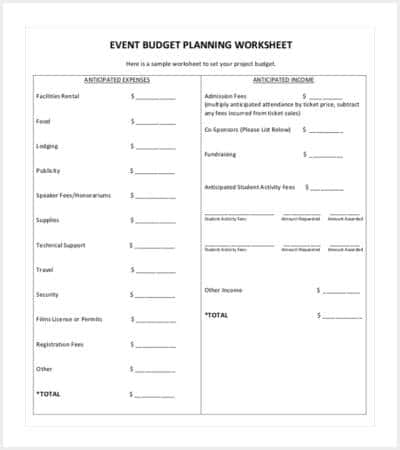 event budget planning template min