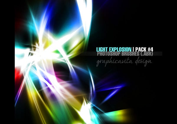 abstract light brushes photoshop