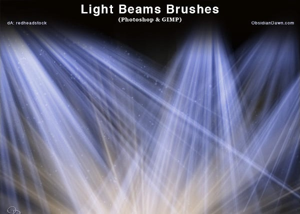 abstract light brushes