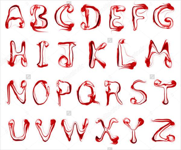smoke-letters-font