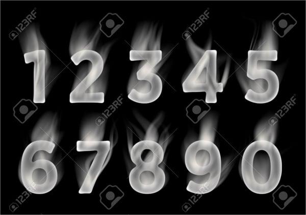 smoke-number-font