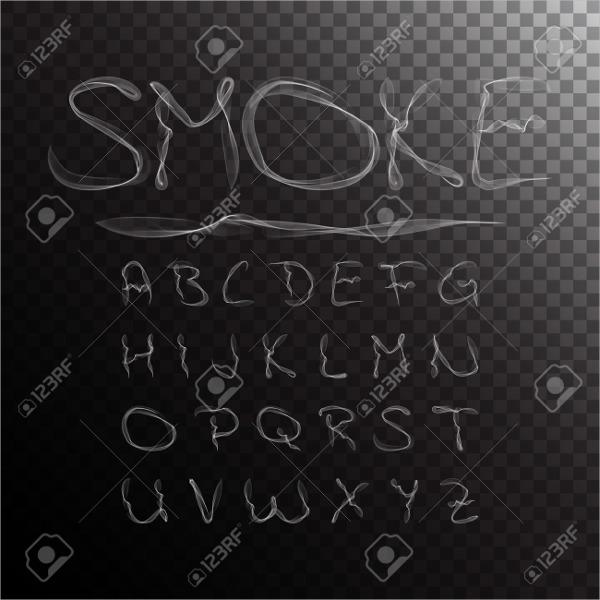 smoke-effect-font