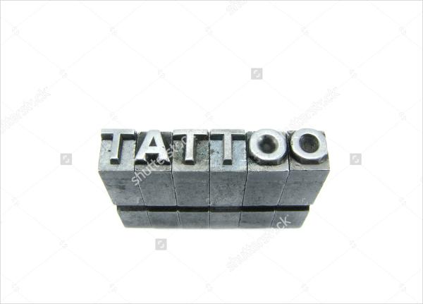 tattoo block letter font