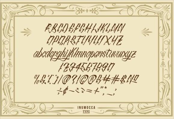 tattoo letter script font