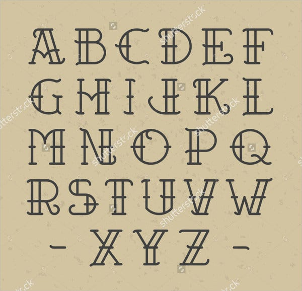 Old School Tattoo Letter Font