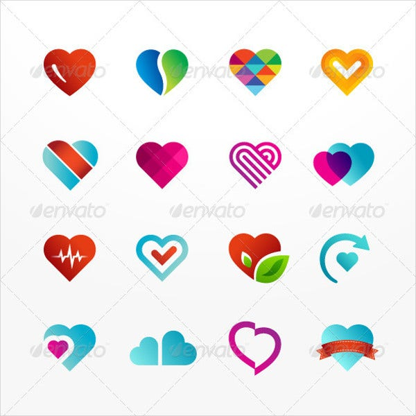 heart symbol icons