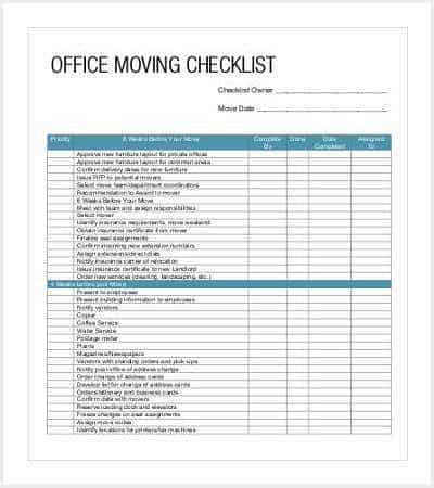 office moving checklist template min