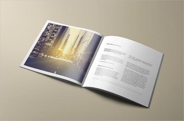 Square Booklet Mockup