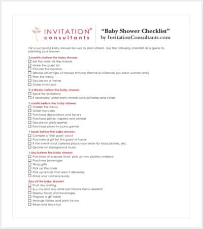 sample baby shower checklist template min