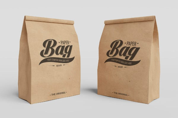 Free PSD Coffee Bag Mock-Ups