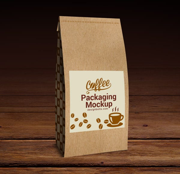 Coffee Packaging Bag Mock-Up