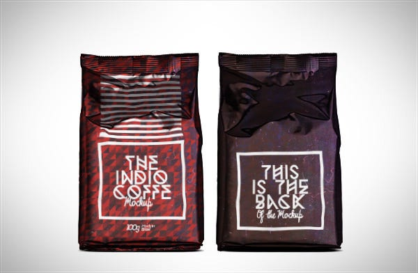 Photorealistic Coffee Bag Mock-Up