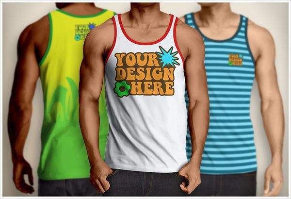 Mens Tank Top Mockup PSD