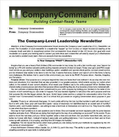 Company Newsletter Template   Free Word Pdf Documents Download