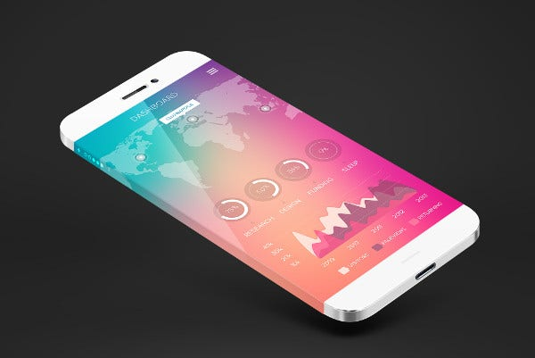 Realistic iPhone 7 Mockup