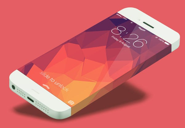 Apple iPhone 7 Mockup PSD