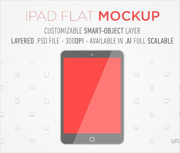 Flat iPad Mockup