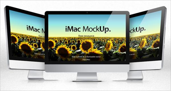 iMac Screen Mockup PSD
