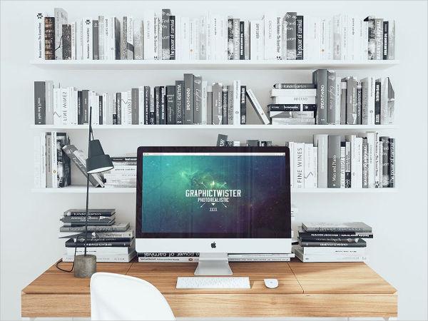 iMac Workspace Mockup