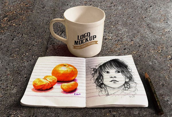 sketchbook-and-coffee-cup-mockup