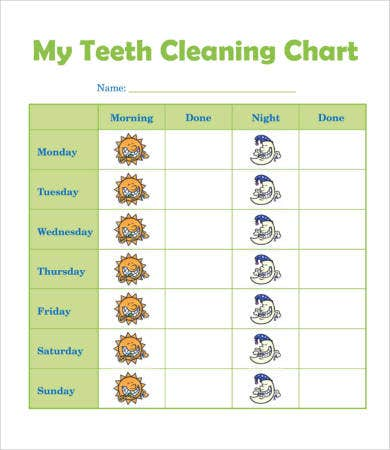 Teeth Cleaning Chart