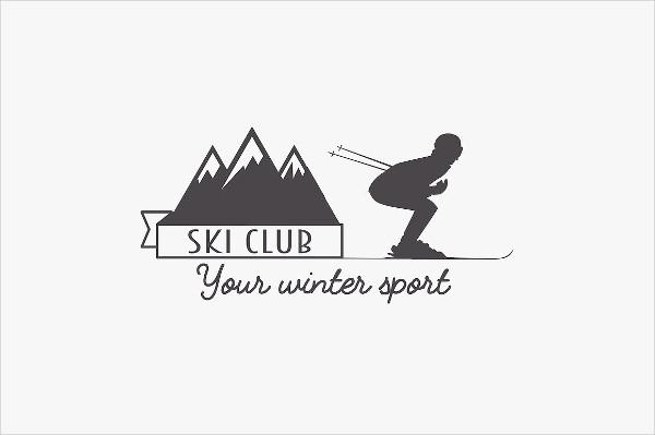 Snowboarding Resort Logo
