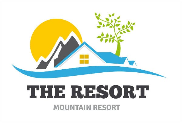 free mountain resort logo