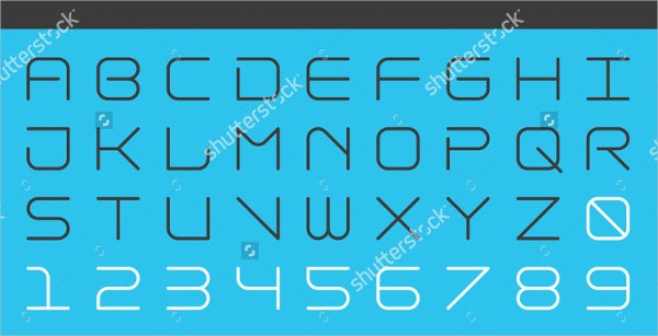 futuristic-rounded-font