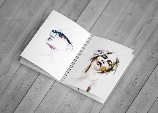free psd sketchbook mockup2