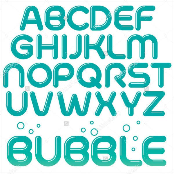 rounded-bubble-font