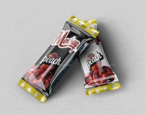 candy chocolate mockup psd