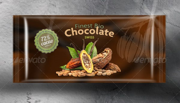 food chocolate packaging mockup