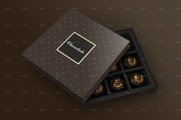 Chocolate Packaging Box Mockup