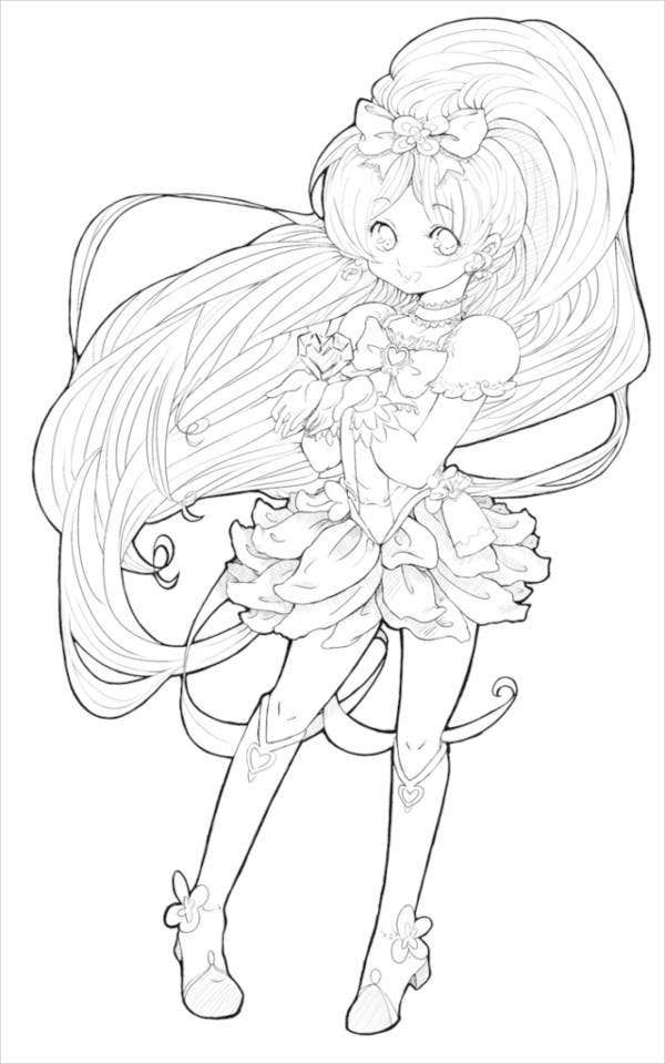 7 Anime Coloring Pages Pdf Jpg Free Amp Premium Templates