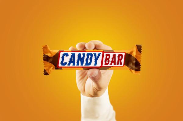 candy bar packaging mockup