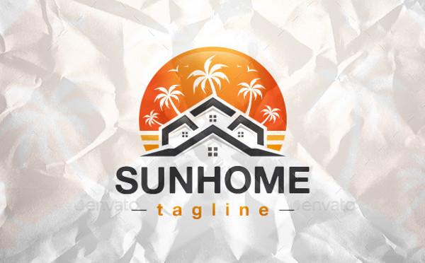 real estate beach logo