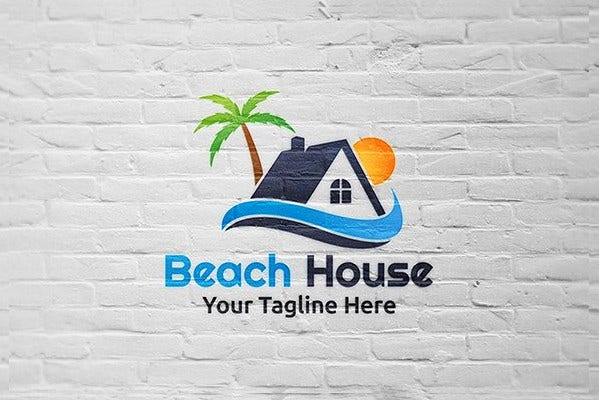 Beach Home Logo Template