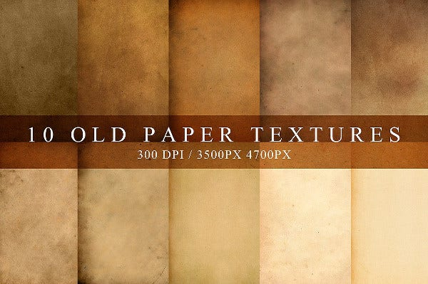 set of old paper textures