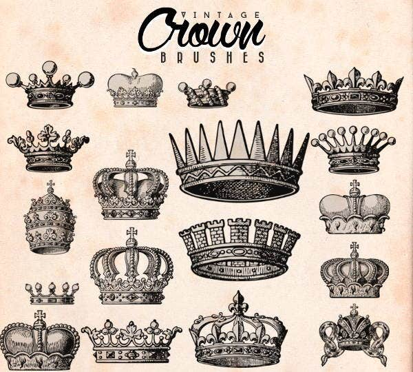 crown shape photoshop brushes