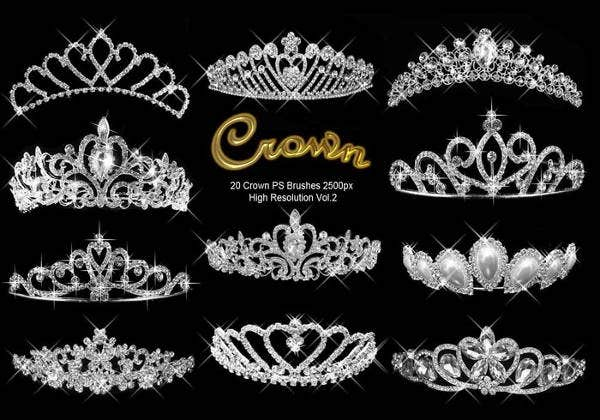 queen crown brushes