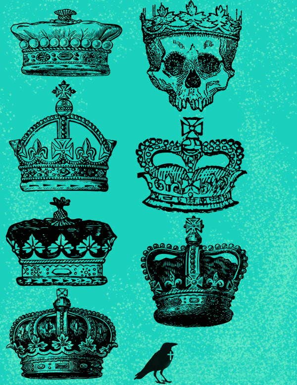 crown vector ps brushes