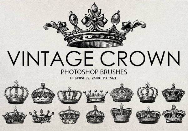 vintage crown brushes