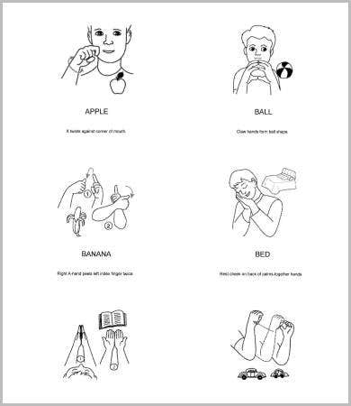 photograph relating to Baby Sign Language Printable known as Little one Signal Language Charts - 5+ Free of charge PDF Files Down load